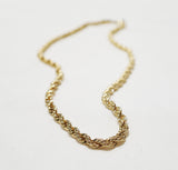 Gold Rope Chain 18K (Size 6)
