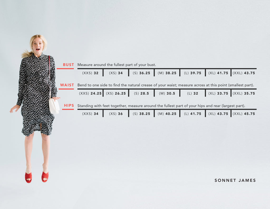 Sonnet James Dress Sizing