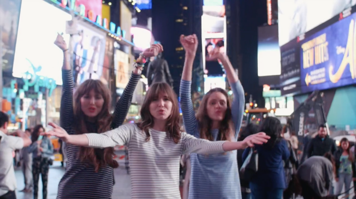 OUR LIP SYNC CONTEST IN TIMES SQUARE