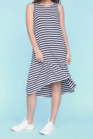 Sonnet James - LULU - NATURAL/NAVY STRIPE - Dress  ,Natural Navy
