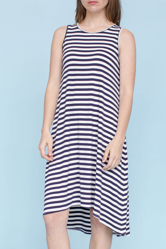 LULU - NATURAL/NAVY STRIPE