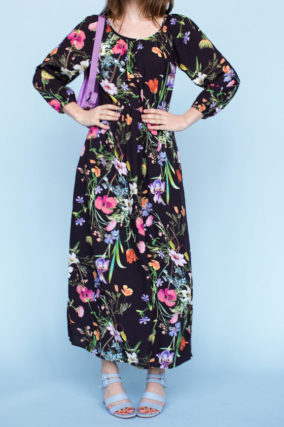 Sonnet James - VIOLET - BLACK FLORAL - Dress