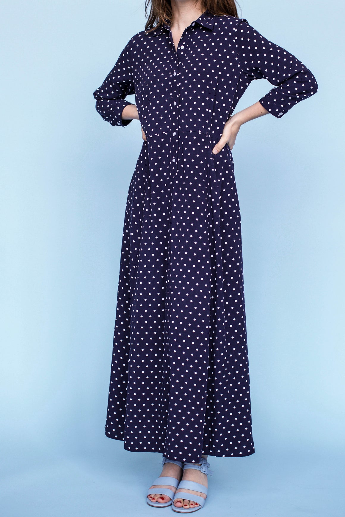 Sonnet James - SABRINA - NAVY DOT - Dress
