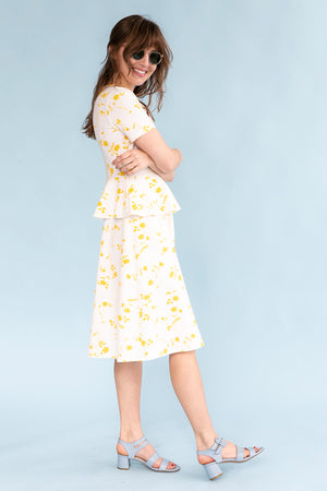 Sonnet James - NATALIA - YELLOW - Dress,Yellow Floral