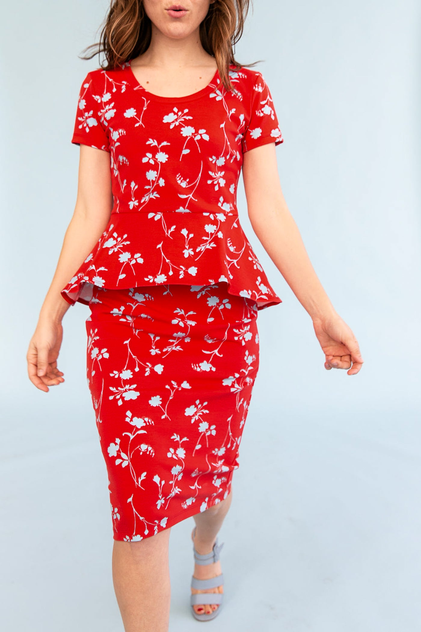 Sonnet James - LILY - RED FLORAL - Dress