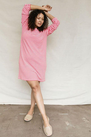 Sonnet James - AVA-PINK/RED STRIPE - Dress,Pink/Red
