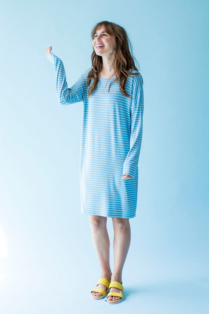 Sonnet James - AVA - LIGHT BLUE STRIPE - Dress