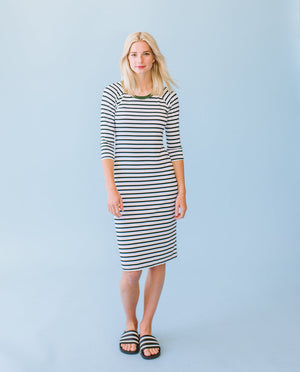 Sonnet James - CHARLIE - Dress,Charlie Black White Stripe
