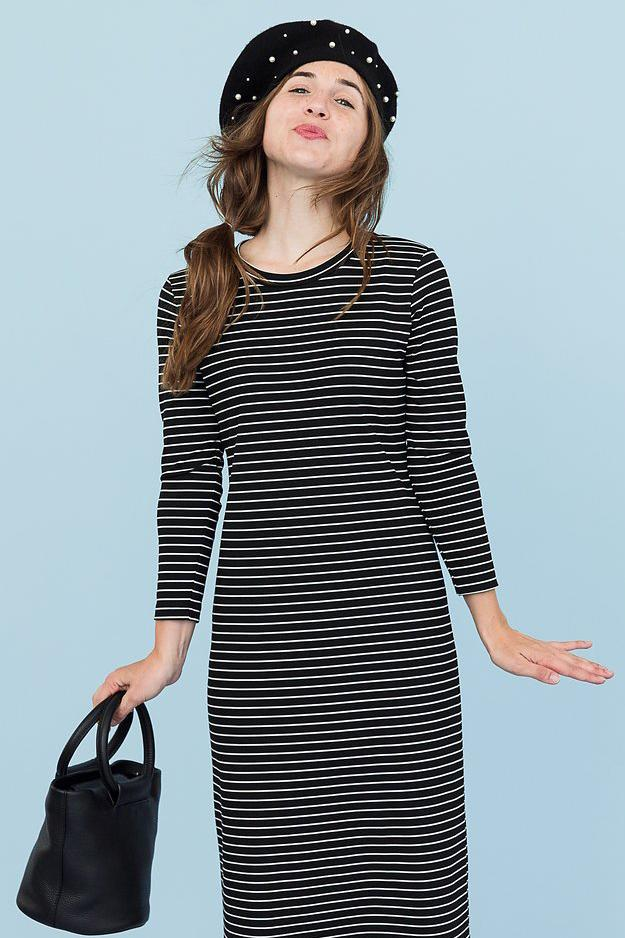 REESE - BLACK/WHITE STRIPE