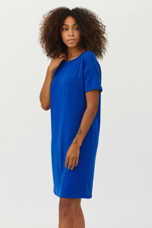 Sonnet James - Scout-T-Shirt - Dress,Cobalt