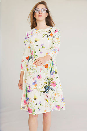 Sonnet James - BRIELLE - WHITE FLORAL - Dress,White Floral