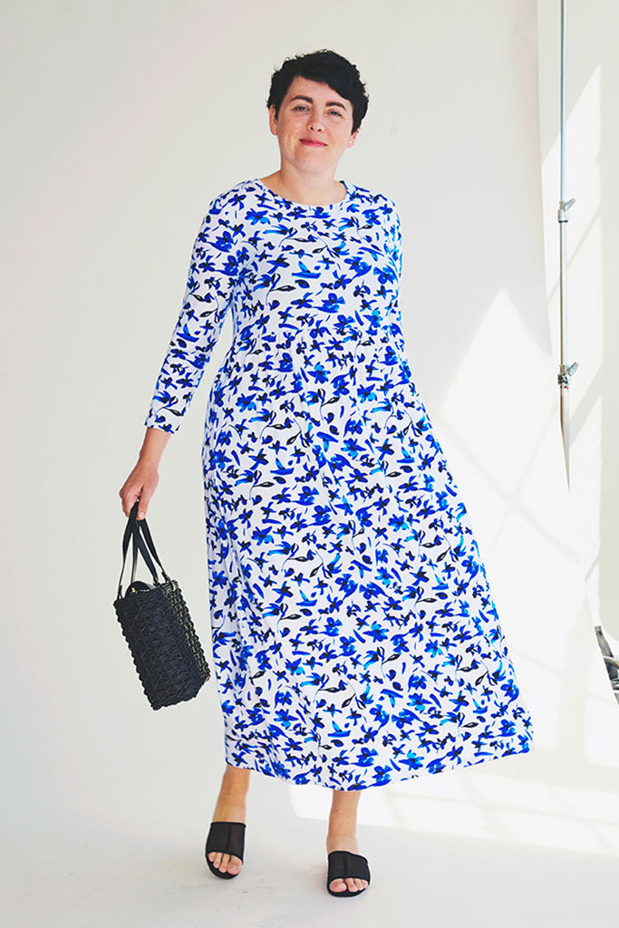 Sonnet James - DRIES - BLUE FLORAL - Dress