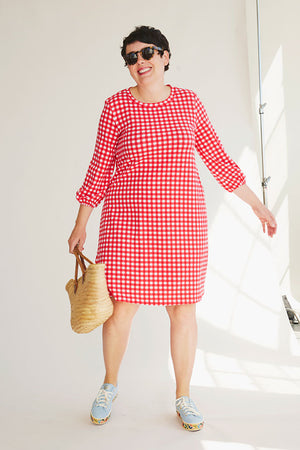 Sonnet James - GEORGIA - RED - Dress,Red Gingham