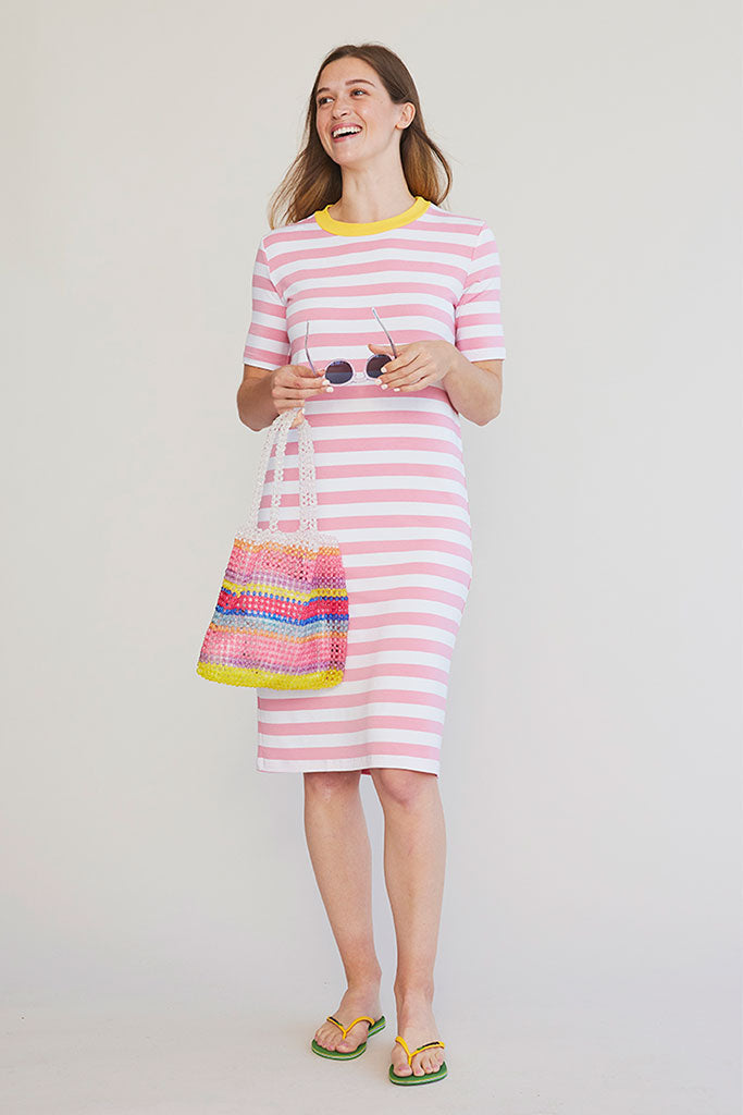 Sonnet James - HEAVEN - PINK STRIPE - Dress  ,pink-stripe