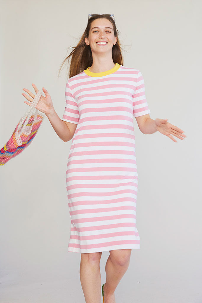 Sonnet James - HEAVEN - PINK STRIPE - Dress,pink-stripe