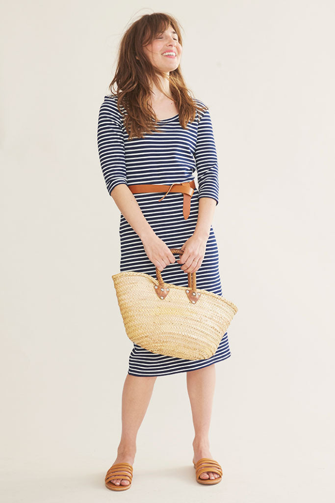 Sonnet James - JUNE - NAVY/CREAM STRIPE - Dress,Navy/Cream