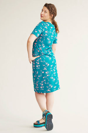 Sonnet James - MAY - TEAL FLORAL - Dress,Teal Floral