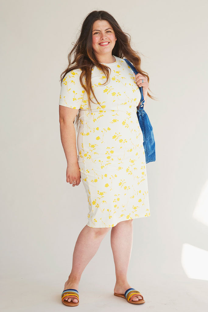 b60d505490 Sonnet James - MAY - YELLOW FLORAL - Dress ...