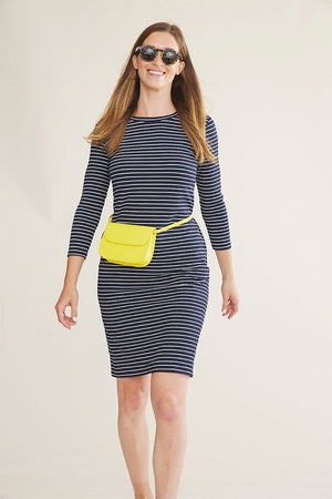 Sonnet James - REESE - NAVY STRIPE - Dress,Navy/White