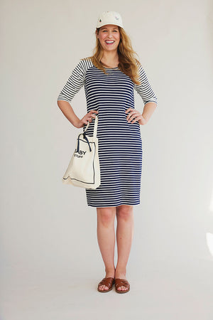 Sonnet James - SLOANE  - NAVY/CREAM - Dress,Navy/Cream