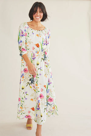 Sonnet James - VIOLET - WHITE FLORAL - Dress,White Floral