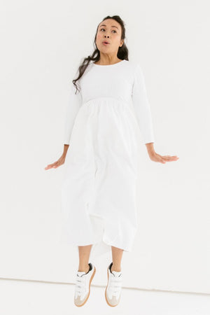 Sonnet James - Dries - White Dot - Dress,White Dot
