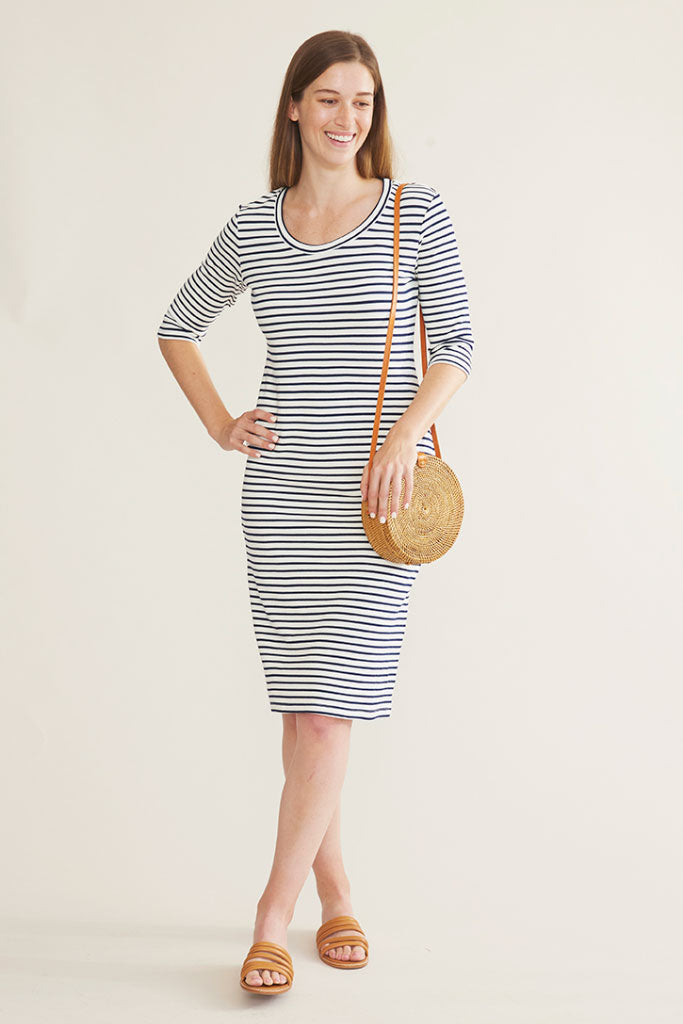 Sonnet James - JUNE - CREAM/NAVY STRIPE - Dress
