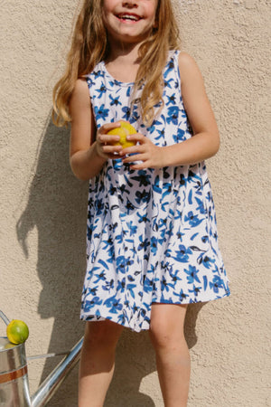 Sonnet James - LULU LITTLE - BLUE FLORAL - Dress,Blue Floral
