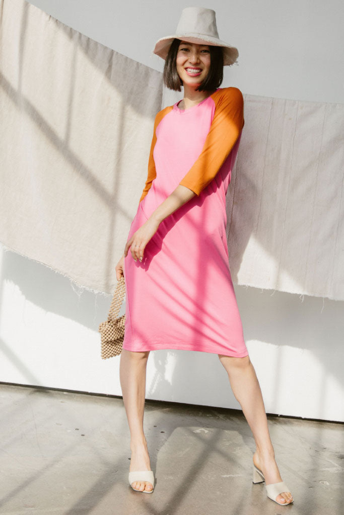 Sonnet James - REMI - PINK/ORANGE - Dress,Pink/Orange