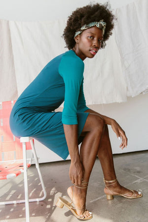 Sonnet James - REMI - TEAL - Dress,Teal