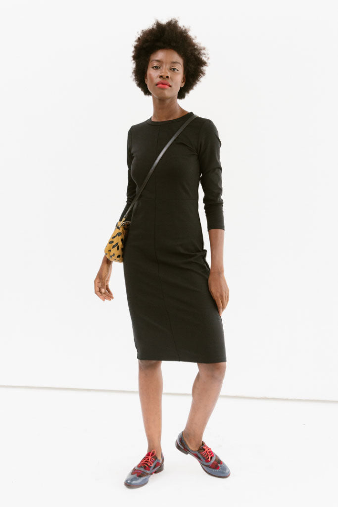 Sonnet James - Winnie - Straight knee-length everyday dress - Dress,Black