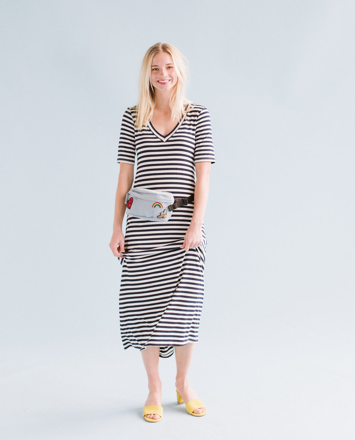 LIV - NATURAL/NAVY STRIPE