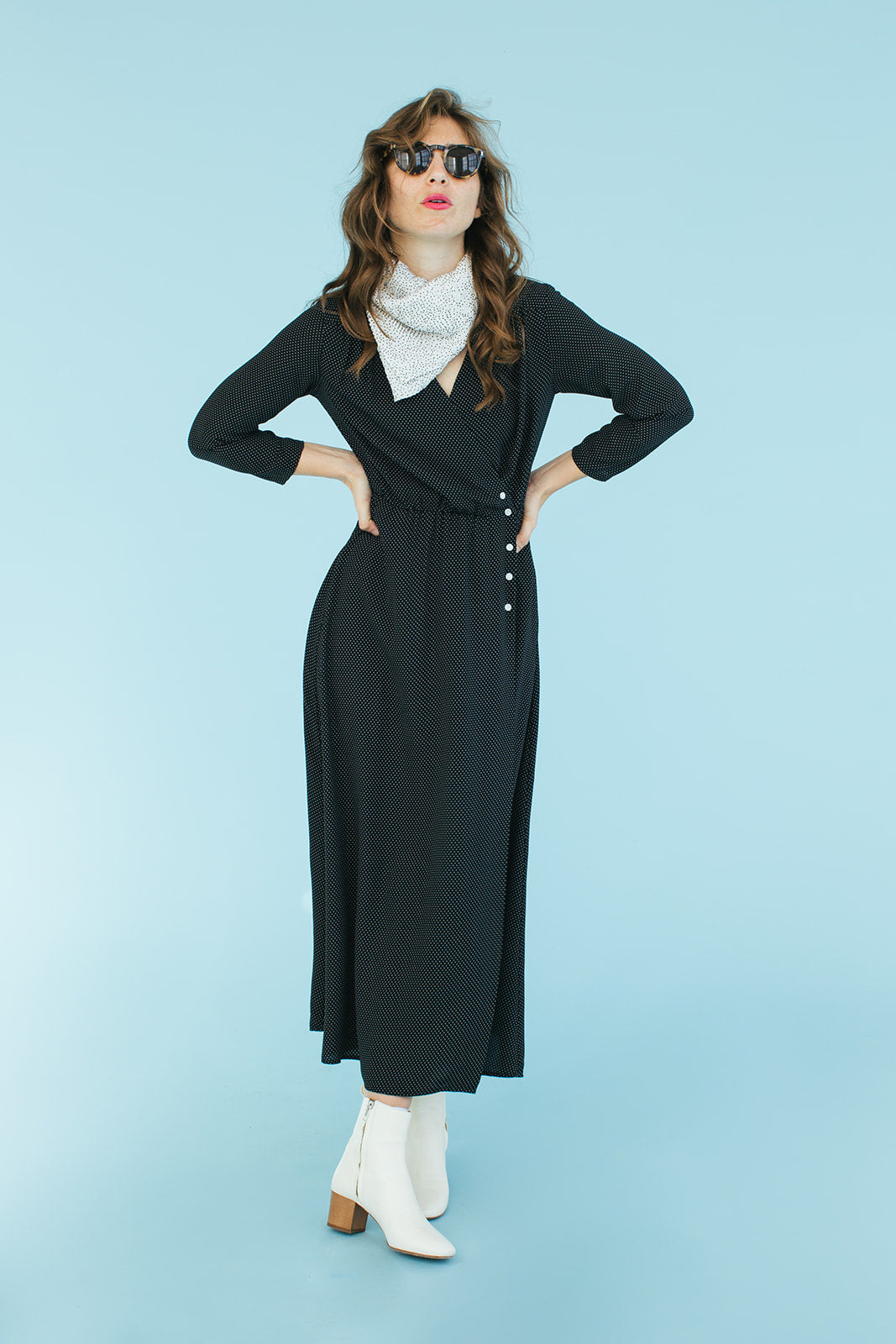 Sonnet James - ADALINE - BLACK DOT - Dress