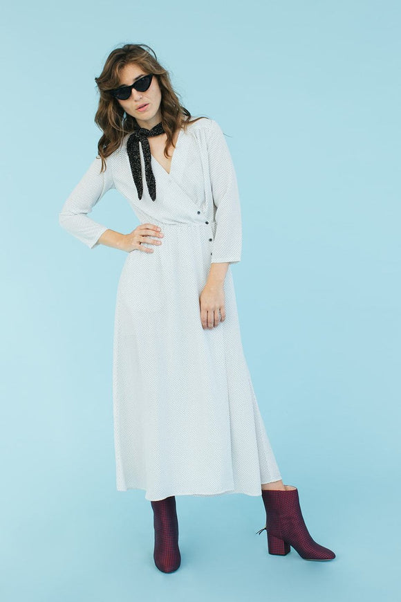 Sonnet James - ADALINE - WHITE DOT - Dress