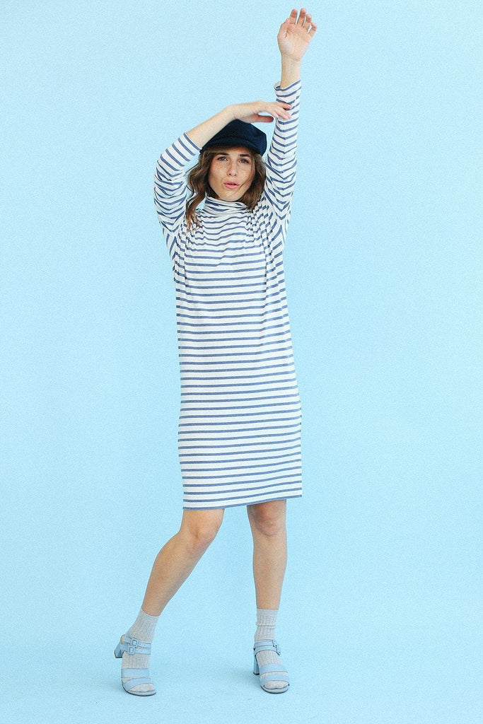 Sonnet James - OLIVE - STRIPE - Dress