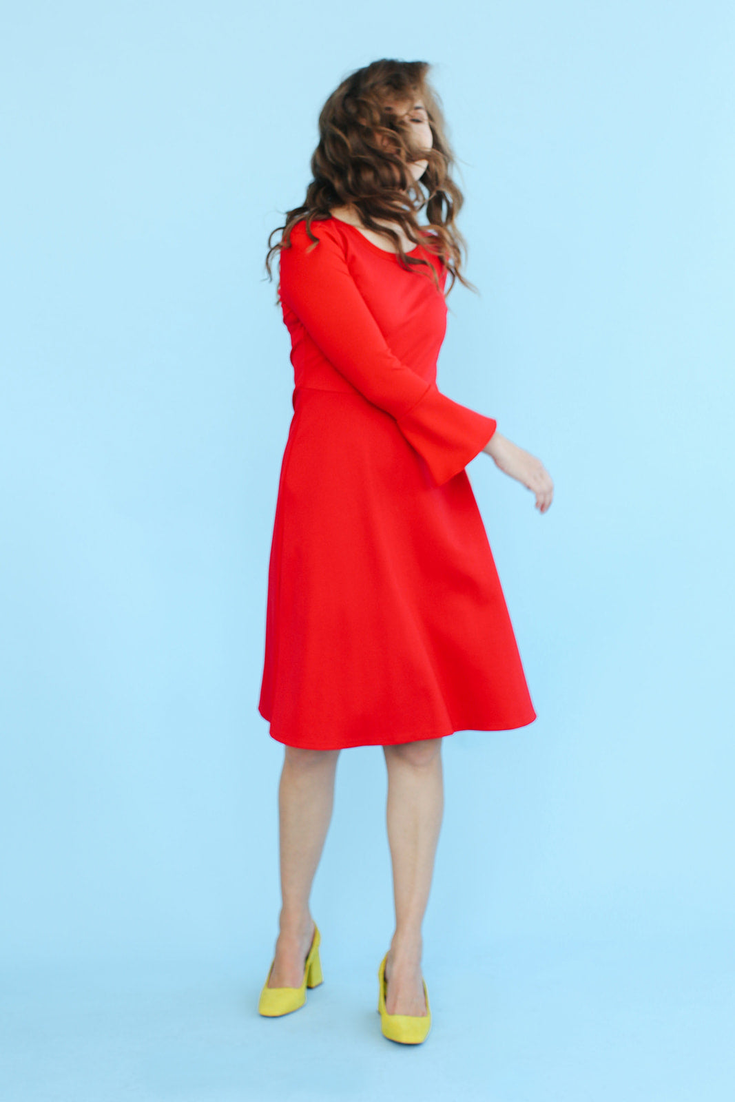 Sonnet James - ROSIE - RED - Dress,Red