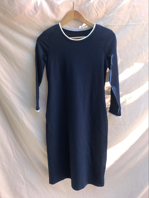 MAY - NAVY W/ WHITE (LONG SLEEVE)