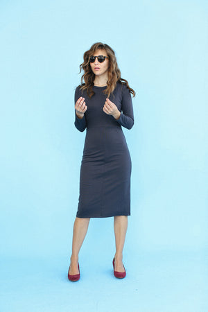 Sonnet James - WINNIE - DARK GREY - Dress,Grey
