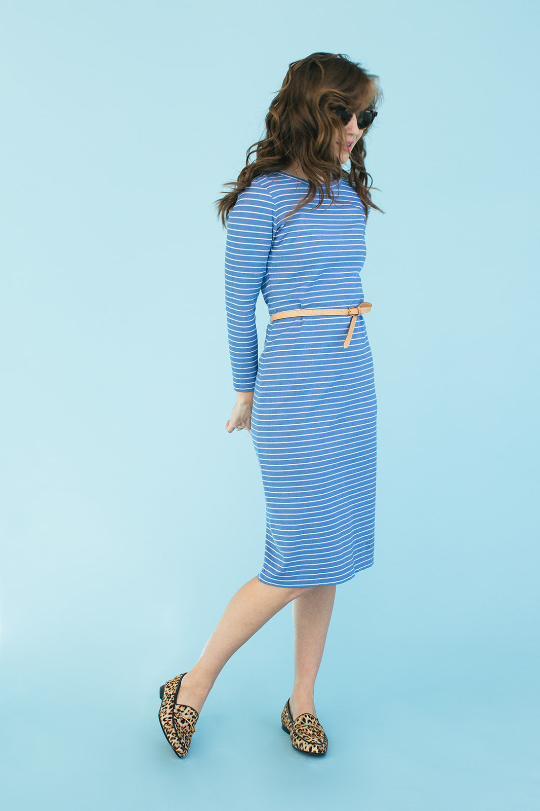 Sonnet James - REESE - BLUE STRIPE - Dress,Blue White