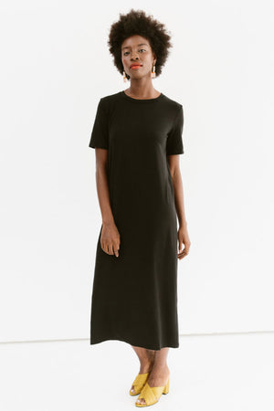 Sonnet James - Frankie - Jersey T-Shirt Maxi Dress - Dress,Airy Blue