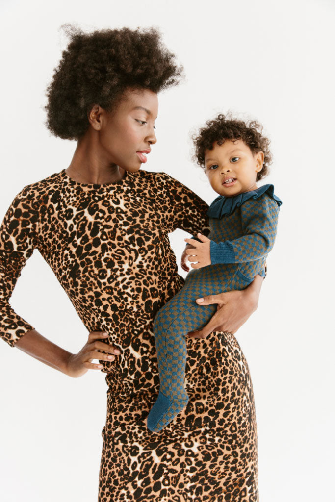 Sonnet James Reese Leopard Dress,Leopard-Ponti