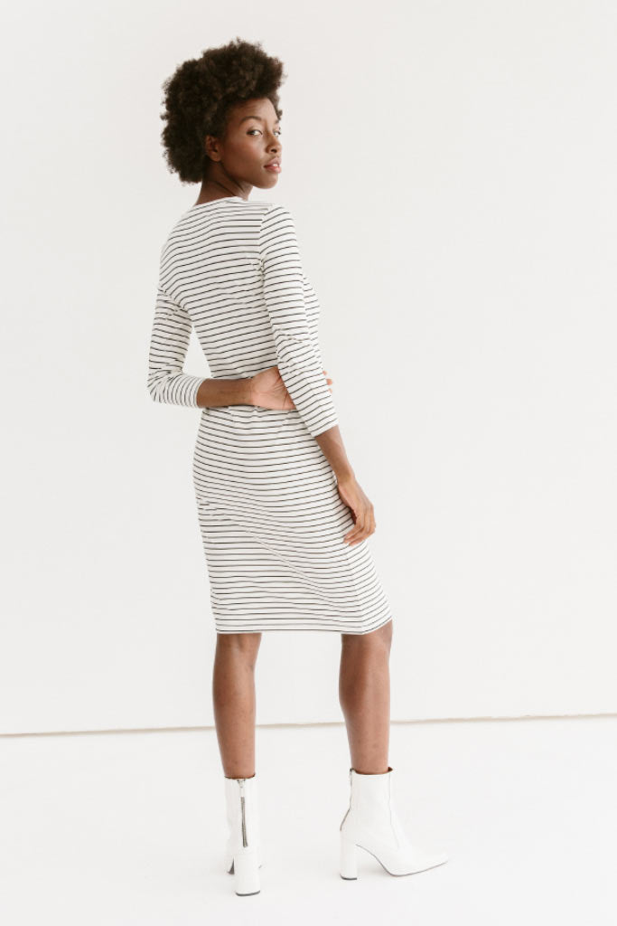 Sonnet James - REESE - WHITE STRIPE - Dress