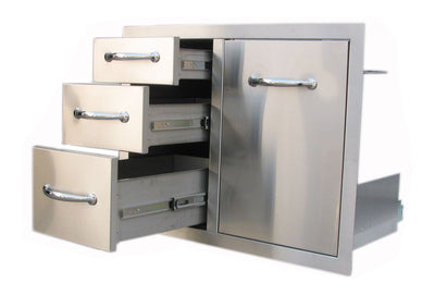 "A-LPCTD30  30"" Tank Tray Triple Drawer Combo"
