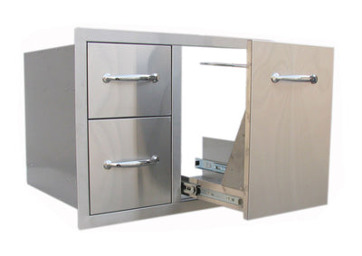 "A-LPCDD30  30"" Tank Tray Double Drawer Combo"