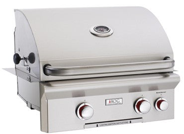 "*24NBL  24"" AOG Built-In Grill with Backburner, L-Series - Natural Gas With Interior Lights"