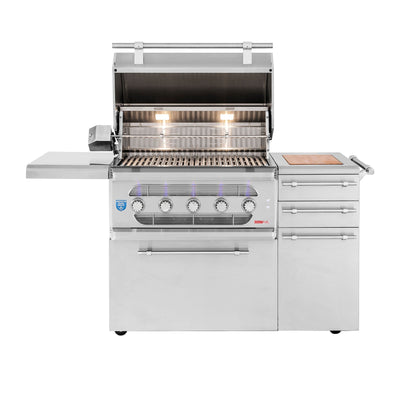 "American Made Grills - Muscle - 36"" Hybrid Freestanding Grill"