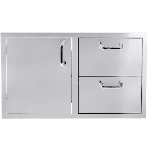 UOL-260COMBO36 Single Door/2 Drawer