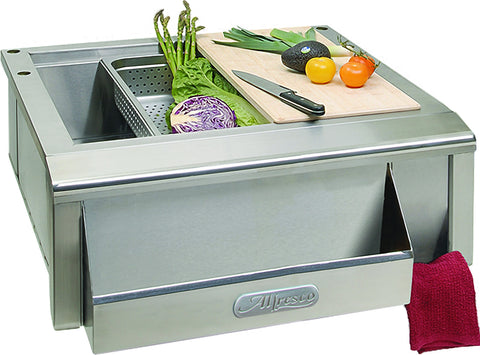 "Alfresco 30"" Main Sink  w/cutting board"