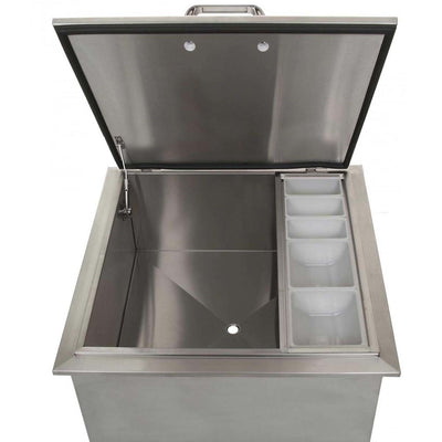 UOL-400D 24X24 DROP-IN ICE STORAGE W/CONDIMENT HOLDER