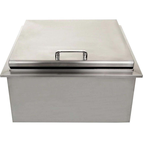 "UOL-400-18DI  18""x18"" DROP IN ICE COOLER WITH CONDIMENT HOLDER"